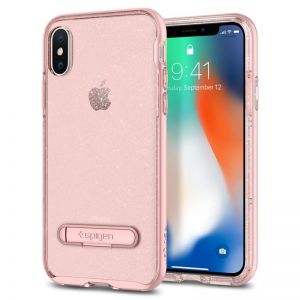 SPIGEN Crystal Hybrid Glitter, rose - pro APPLE iPhone X