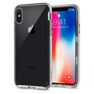 SPIGEN Neo Hybrid Crystal, satin silver - pro APPLE iPhone X