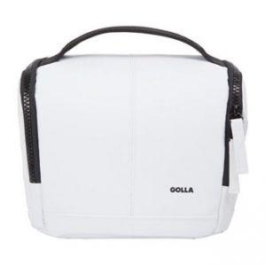Taška na fotoaparát, polyester/PVC, bílá, Barry Mirrorless M, s popruhem, Golla