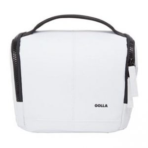Taška na fotoaparát, polyester/PVC, bílá, Barry Mirrorless S, s popruhem, Golla