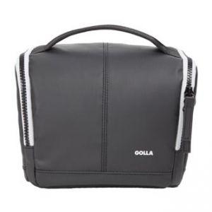 Taška na fotoaparát, polyester/PVC, černá, Barry Mirrorless M, s popruhem, Golla