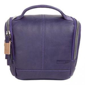 Taška na fotoaparát, imitace kůže, fialová, Eliot Mirrorless S, s popruhem, Golla