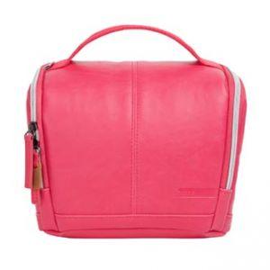 Taška na fotoaparát, imitace kůže, růžová, Eliot Mirrorless M, s popruhem, Golla