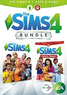 PC DVD - THE SIMS 4 + CATS & DOGS CZ/SK Bundle