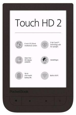 PocketBook 631+ Touch HD 2, Dark Brown , tmavě hnědý ebook reader, 6´´ E-ink 1720x1448 LCD