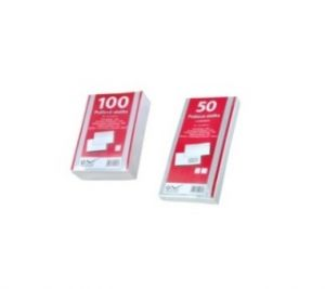 SmartLine Obálka bílá,samolepící přehybová 100ks 12,5 x 12,5 cm / 90g/m2