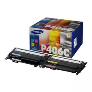 HP - SAMSUNG toner CMYK sada CLT-P406C pro CLP - 360/365/CLX-3300/3305/C410/C460 - 1500/10