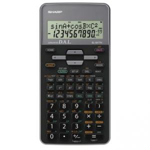 Kalkulačka SHARP, EL-531THGY, černá, školní