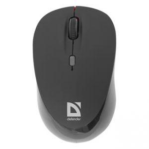DEFENDER Myš Dacota MS-155, 1, 2.4 [GHz], laserová, 4tl., 1 kolečko, bezdrátová, černá, 20