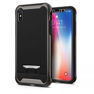 SPIGEN Signature Neo Hybrid, gunmetal - pro APPLE iPhone X