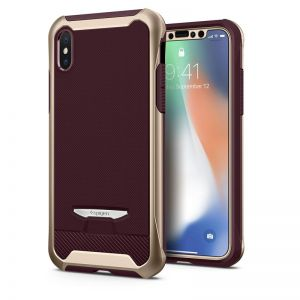 SPIGEN Signature Neo Hybrid, gold - pro APPLE iPhone X