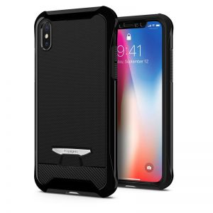 SPIGEN Signature Neo Hybrid, jet black - pro APPLE iPhone X