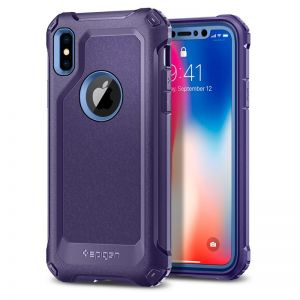 SPIGEN Signature Tough Armor, purple - pro APPLE iPhone X