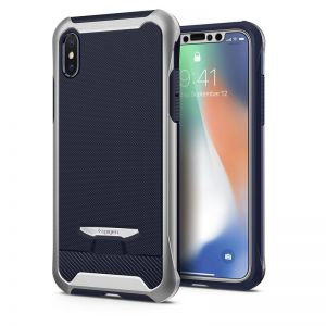 SPIGEN Signature Neo Hybrid, silver - pro APPLE iPhone X