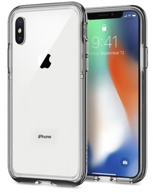 SPIGEN Neo Hybrid EX, chrome gray - pro APPLE iPhone X