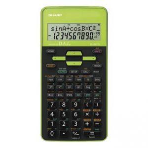 Kalkulačka SHARP, EL-531THGR, černo-zelená, školní