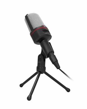 """Stolní mikrofon C-TECH MIC-02, 3,5"""" stereo jack, 2.5m"""