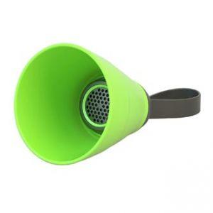 Bluetooth reproduktor SALI, 3W, regulace hlasitosti, zelený, skládací, voděodolný, bluetoo