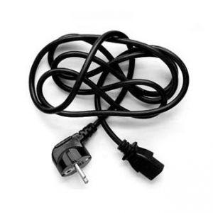 Síťový kabel 230V napájecí, CEE7 (vidlice)-C13, 3m, VDE approved, černý, Logo