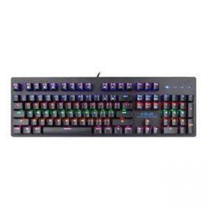 E-BLUE Klávesnice EKM757, herní, černá, drátová (USB), US, mechanická, podsvícená, s modrý