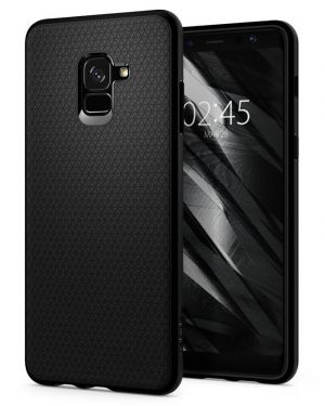 SPIGEN Liquid Air, matte black - Galaxy A8+(2018)