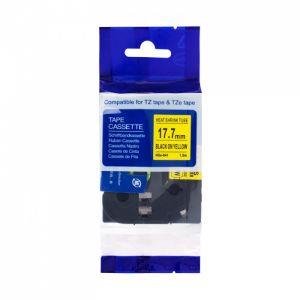 PRINTLINE kompatibilní páska s BROTHER HSe-641, 18mm, černý tisk/ žlutý podklad, bužírka