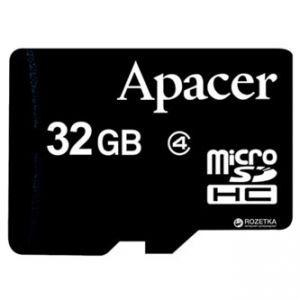 APACER paměťová karta Secure Digital, 32GB, microSDHC, AP32GMCSH4-RA, Class 4, bez adaptér