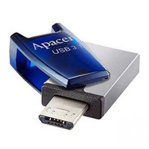 APACER USB Flash Drive OTG, 3.1, 32GB, AH179, stříbrný, modrý, AP32GAH179U-1, USB 3.1/USB