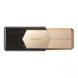APACER USB Flash Drive, 3.0, 64GB, AH650, zlatý, AP64GAH650C-1, snímač otisků prstů kovový