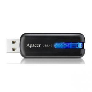APACER USB Flash Drive, 3.0, 16GB, AH354, černý, modrý, AP16GAH354B-1, plastový s vysouvac