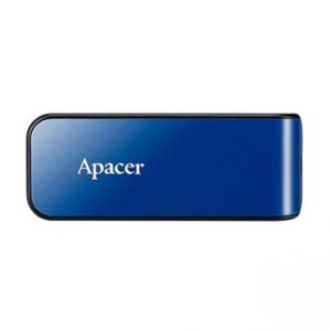 APACER USB Flash Drive, 2.0, 64GB, AH334, modrý, AP64GAH334U-1, s výsuvným konektorem