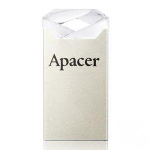 APACER USB Flash Drive, 2.0, 64GB, AH111, stříbrný, bílý, AP64GAH111CR-1