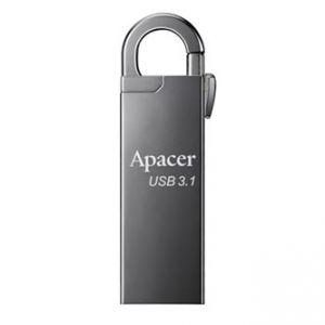 APACER USB Flash Drive, 3.1, 32GB, AH15A, stříbrný, AP32GAH15AA-1, s karabinkou