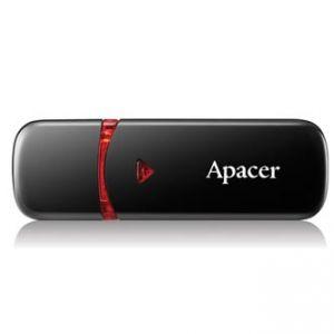APACER USB Flash Drive, 2.0, 32GB, AH333, černý, červený, AP32GAH333B-1, s plastovou krytk