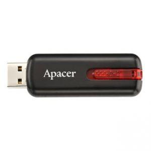 APACER USB Flash Drive, 2.0, 16GB, AH326, černý, AP16GAH326B-1, s výsuvným konektorem