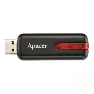 APACER USB Flash Drive, 2.0, 64GB, AH326, černý, AP64GAH326B-1, s výsuvným konektorem