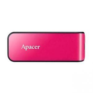 APACER USB Flash Drive, 2.0, 64GB, AH334, růžový, AP64GAH334P-1, s výsuvným konektorem