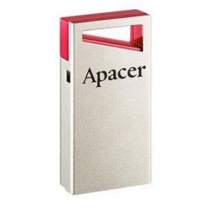 APACER USB Flash Drive, 2.0, 64GB, AH112, stříbrný, červený, AP64GAH112R-1