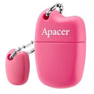 APACER USB Flash Drive, 2.0, 64GB, AH118, růžový, AP64GAH118P-1, s krytkou