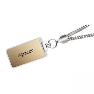 APACER USB Flash Drive, 2.0, 64GB, AH121, zlatý, bílý, AP64GAH121C-1, s výsuvným konektore