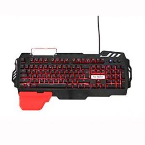 RED FIGHTER Klávesnice K2, herní, černá, drátová (USB), CZ/SK, podsvícená, výměnná područk