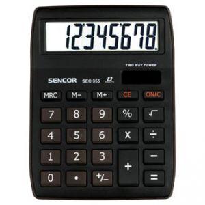 SENCOR SEC 255/8 bílá Kalkulačka kapesní, osmimístná, duální napájení