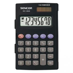 SENCOR SEC 295/8 černá Kalkulačka kapesní, osmimístná, duální napájení