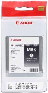 CANON PFI-102MBK IPF500, 600, 700, matte black, 0894B001 - pošk. obal B (viz. popis)