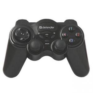 Gamepad DEFENDER GAME MASTER WIRELESS, 12tl., bezdrátové, Wifi, černý, vibrační, Windows 2