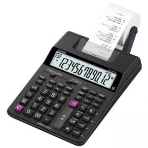 Kalkulačka CASIO, HR 150 RCE, černá, dvanáctimístná, s tiskem, duální napájení, dvoubarevn