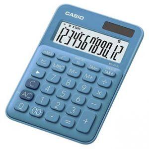 Kalkulačka CASIO, MS 20 UC BU, modrá, dvanáctimístná, duální napájení