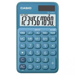 Kalkulačka CASIO, SL 310 UC BU, modrá, desetimístná, duální napájení