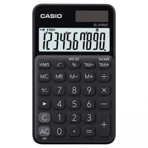 Kalkulačka CASIO, SL 310 UC BK, černá, desetimístná, duální napájení
