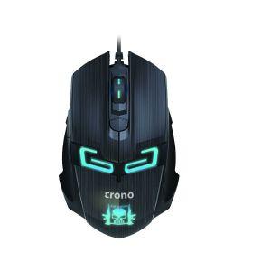 CRONO myš CM647/ gaming/ optická/ drátová/ 1600 dpi/ modré LED podsvícení/ 6 tlačítek/ USB
